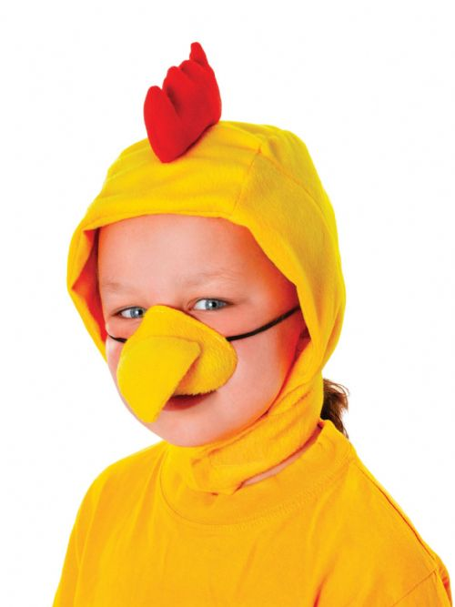 Chicken Set Childs (Hood + Nose) Fancy Dress Up Kit Rooster Chick Fancy Dress